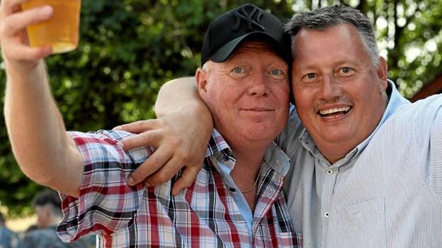 To glade festivaldeltagere, Flemming Nørgaard (t.v.) og Brian Frost. Foto: Allan Mortensen Allan Mortensen