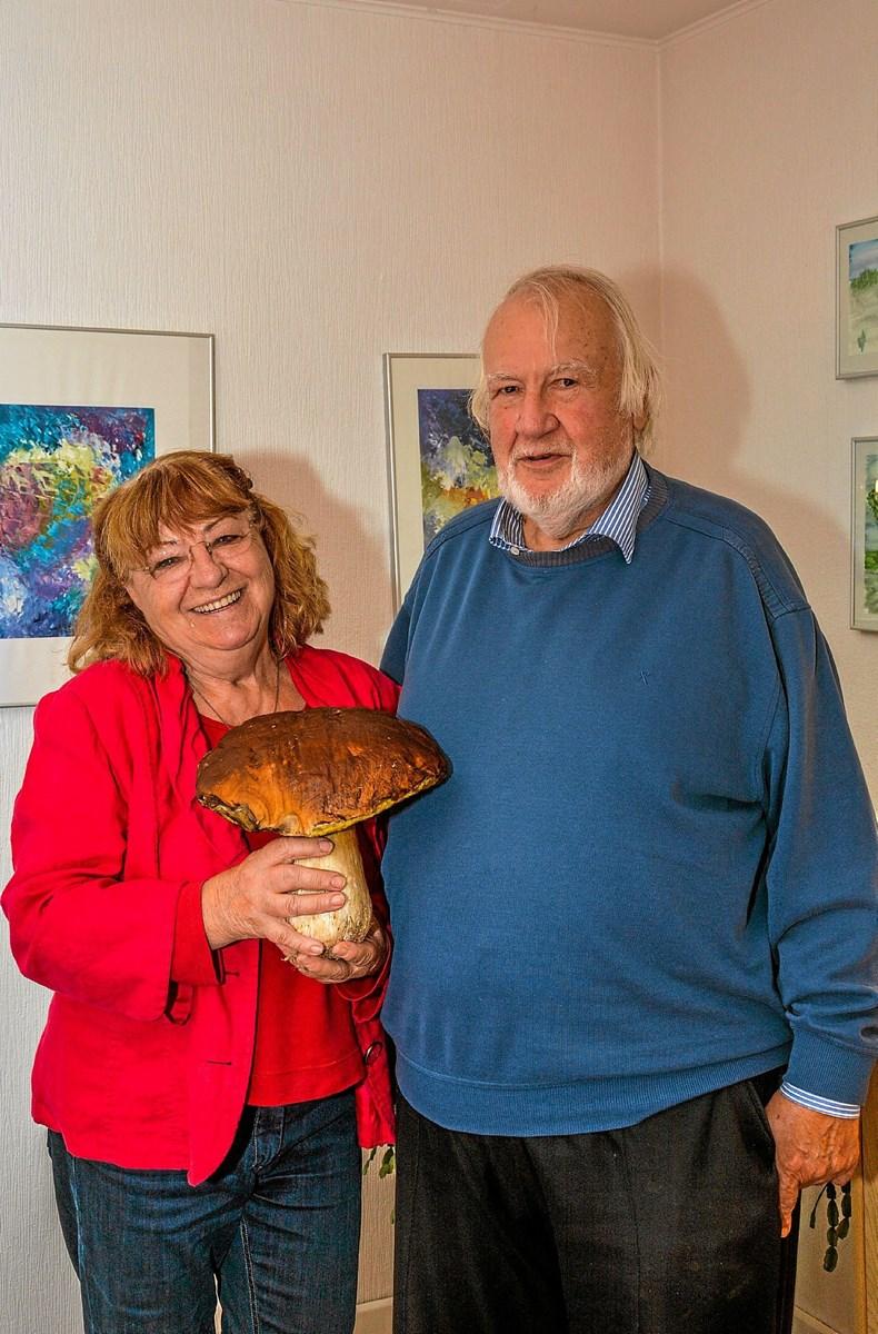 Det tyske par, som næste år kan fejre 50 års jubilæum i Lendrup. Foto: Mogens Lynge