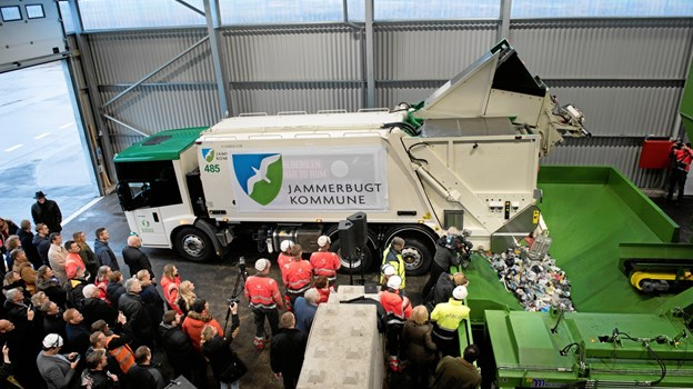 Jammerbugt, Aalborg og Mariagerfjord kommuner ejer det nye sorteringsanlæg på Reno Nord.Pressefoto