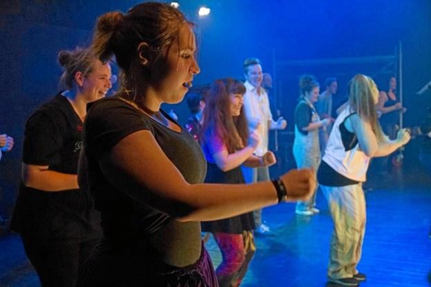 Teatergruppen Massehysteri - her ved en anden forestilling end den aktuelle mandag på Himmerlands Teater. Privatfoto