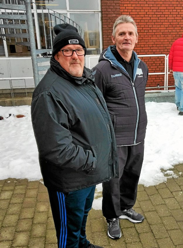 Holdleder Mogens Thomsen til venstre og Jørgen 'Jøsse' Larsen til højre. Foto: Privatfoto