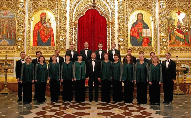 Kiev Kammerkor - synger 11. august i Hobro Kirke. Privatfoto