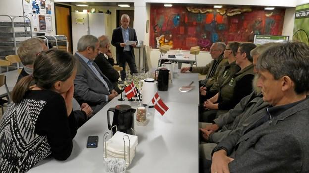 Jørgen Hammer Sørensen, formand for Teknik og Miljø holdt tale inden overrækkelsen af prisen. Foto: hhr-freelance.dk