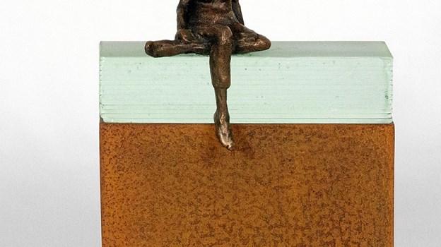 Marianne Lydom Schultz udstiller bronzeskulpturer. Privatfoto