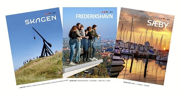 De tre nye byguider er klar til at guide gæster og fastboende rundt.