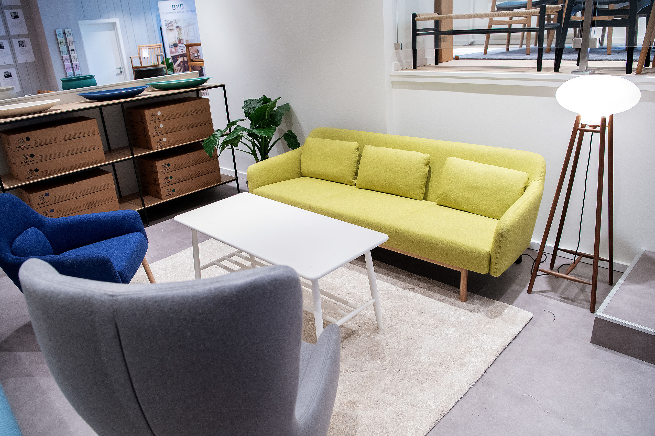 Butikken er indrettet i 'rum', hvor kan få inspiration til, hvordan møblerne kan sættes sammen. Foto: Lars Pauli
