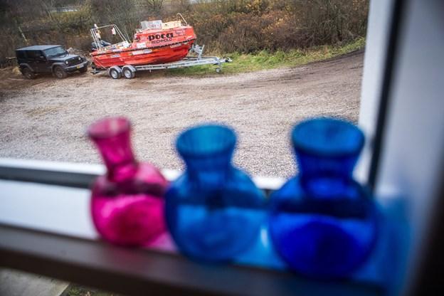 Båden Olga, som bragte Anders Bilgram rundt langs nordpolen, var i dagens anledning placeret, så folk kunne betragte båden. ?Foto: Martin Damgård Martin Damgård