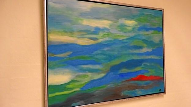 Karens Degns billeder kan for tiden ses på Gallerigangen i Møldrup. Privatfoto