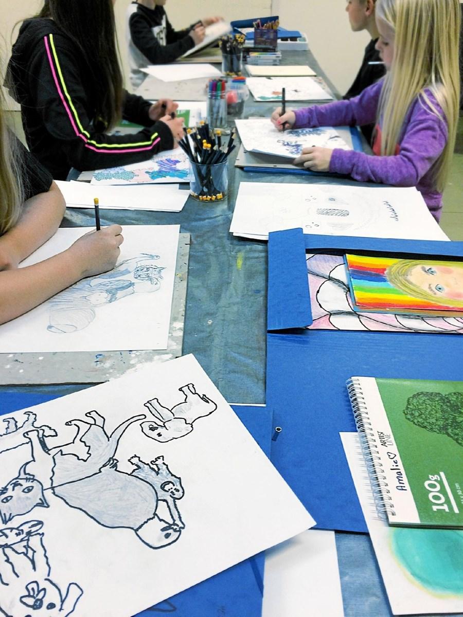 Tegnehold for børn på Frederikshavn Bibliotek Foto: Frederikshavn Bibliotek