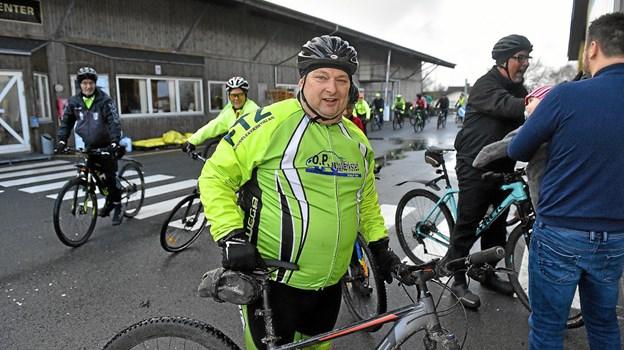 Kyss, mindre kendt som John Jensen, er bagmanden bag den sociale cykelsucces i den Stramme Kæde. Foto: Ole Iversen Ole Iversen