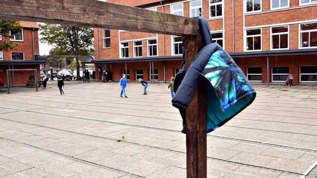 Søndergades Skole kan i år sige farvel til 66 elever, der går ud af 9. klasse. Arkivfoto: Kurt Bering