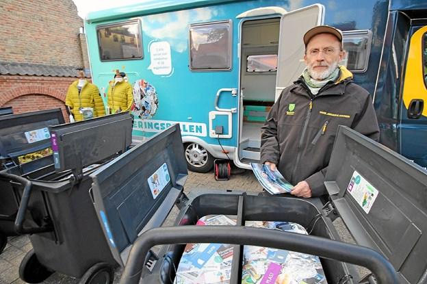 Affaldsplanlægger Hans Jørgen Madsen orienterede om den nye affaldssorteringsordning, der træder i kraft omkring årsskiftet. Foto: Jørgen Ingvardsen
