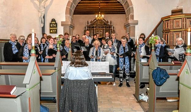 Aggersborg Gospelkor under ledelse af Inger Lund Gregersen. Foto: Mogens Lynge