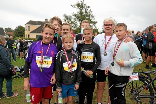 Selvfølgelig sørger Inge Nørbjerg for, at der bliver stillet løbehold fra Stensnæsskolen til LandsbyLØBET Foto: Tommy Thomsen Tommy Thomsen