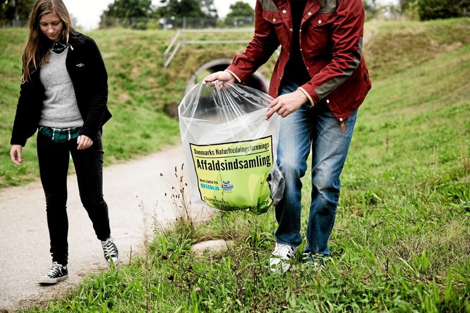Man kan tilmelde sig med sin egen affaldsindsamling - så får man startpakke tilsendt. Arkivfoto Ole Iversen