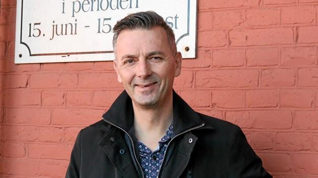 Michael Christensen fra Lanternen overtager formandsposten i Sæby Handelsstandsforening efter Hans Ole Kalhøj Foto: Tommy Thomsen