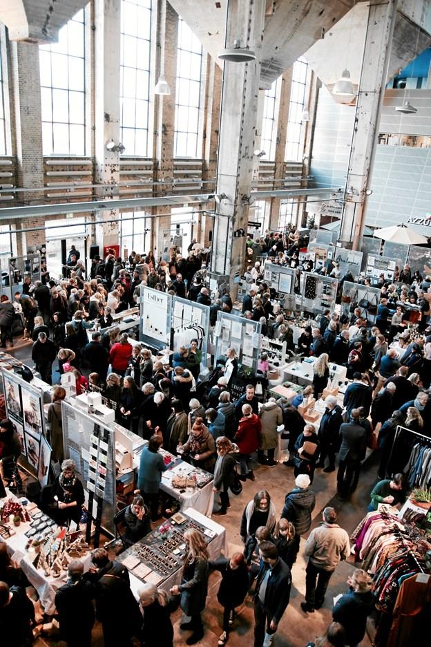 Kunst- og designmarkedet NEU vender tilbage til Kedelhallen 17. november.Foto: Anne Østenby