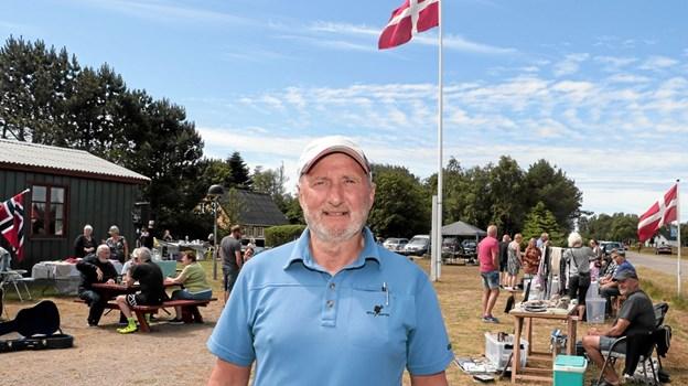 Carsten Kristensen der er formand for Hulsig Borgerforening, var godt tilfreds med den mange besøgende. Foto: Peter Jørgensen Peter Jørgensen