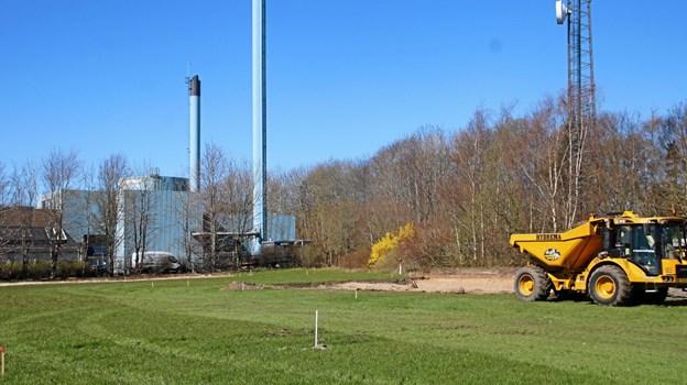 Det er Brix Nordberg Arkitektur, som står for opførelsen af virksomheden, der bliver nabo til det gamle Aabybro Fjernvarmeværk. Foto: Flemming Dahl Jensen Flemming Dahl Jensen