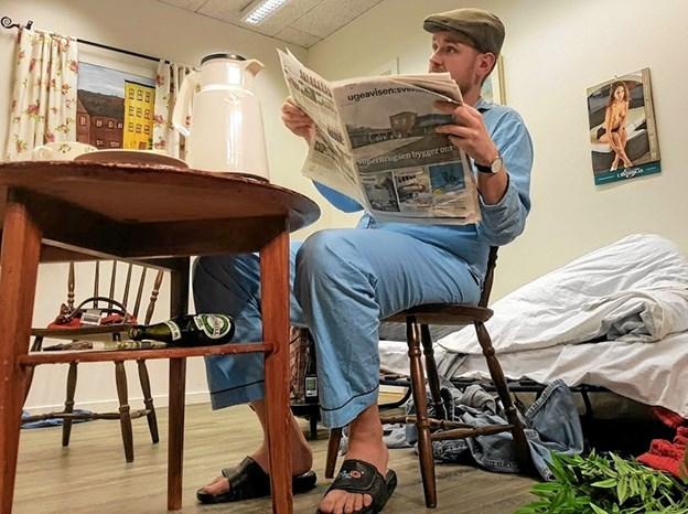 Rimsmeden Thomas Kjærgaard lod sig (måske) inspirere af Ugeavisen:Svenstrup. Foto: Karl Erik Hansen Karl Erik Hansen