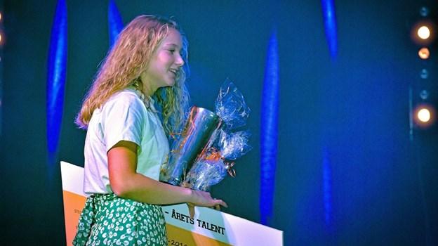 fodboldspiller fra FC Thy Piger - Thisted Q Sofie Gravesen fra Øster Vandet blev Årets Talent. Foto: Ole Iversen Ole Iversen