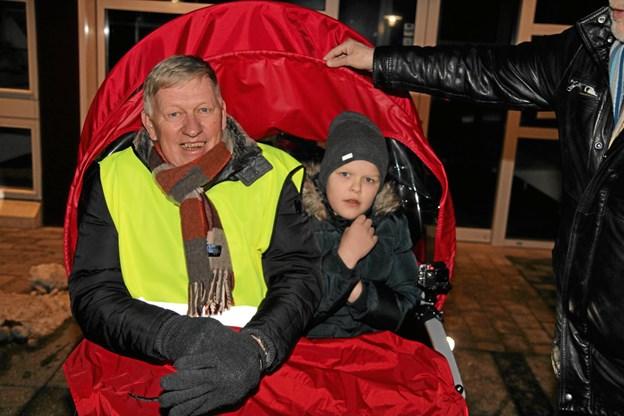 Thomas Thomsen fra vennekredsen fik også en tur. Foto: Flemming Dahl Jensen Flemming Dahl Jensen