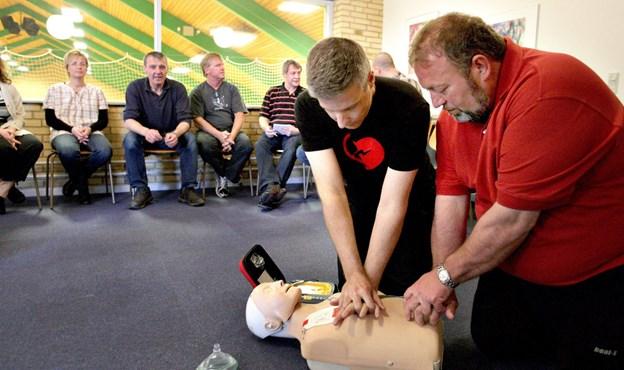 Hjerteforeningen og Dansk Råd for Genoplivning har netop uddannet 16 instruktører her i Thy og på Mors i genoplivning. Arkivfoto