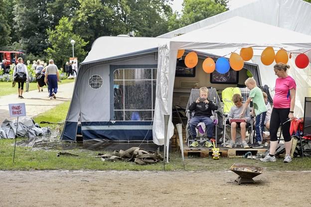 Det er tilladt at lave en lejr i Kildeparken. Arkivfoto: Claus Søndberg