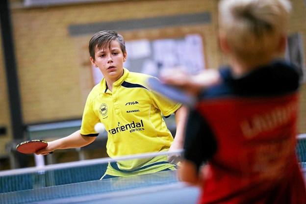 Nichlas Ravndal Jørgensen var en af de lokale spillere, der var i aktion på dagen. Foto: Allan Mortensen