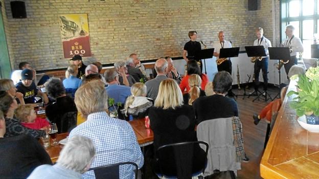 Saxofonkvartetten gav gratis koncert   Privatfoto
