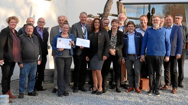 Der var glæde i Han Herred Rotary Klub over den uventede hædersbevisning.Privatfoto: Rotary