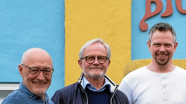 Trioen bag CDen, fra venstre Lars, Poul og Ronny