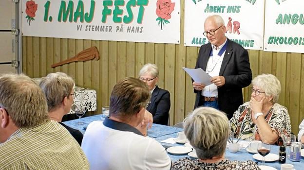 Den afgående præsident Jens Ole Jørgensen aflægger beretning for hans præsidentperiode. Foto: Niels Helver Niels Helver
