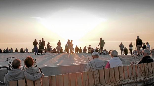 Solnedgangspladsen blev klar til uge 29 og indvies 17. august. Foto: Peter Jørgensen