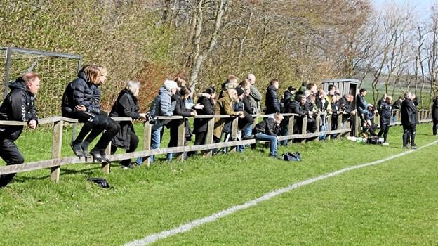 Der var mange tilskuere til lokalopgøret. Foto: Flemming Dahl Jensen Flemming Dahl Jensen