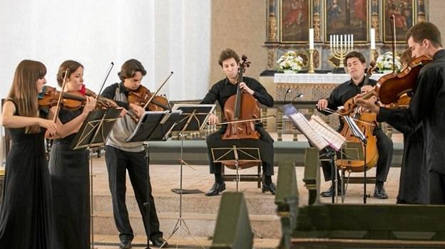 Et ensemble fra Thy Masterclass giver 20. august koncert i Dokkedal som led i sommerens række af Vildmosekoncerter. Privatfoto