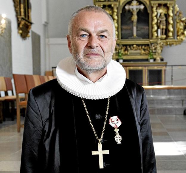 Biskop Henning Toft Bro i Budolfi Kirke.Arkivfoto: Lars Horn