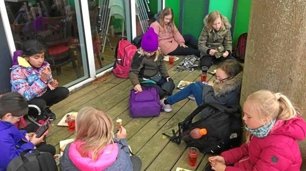 De grønne pigespejdere fra Brønderslev har for nyligt været i Aarhus for at fejre deres 100-års jubilæum. Privatfoto