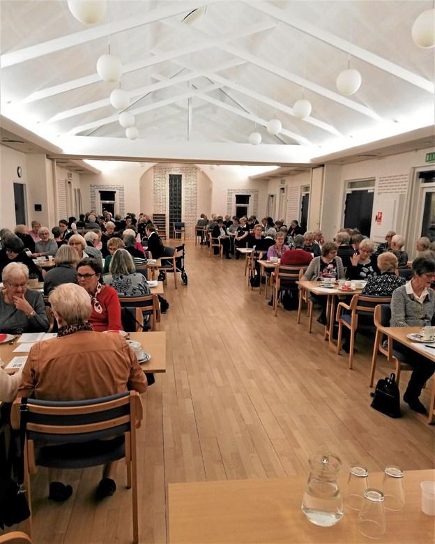 Over halvdelen af foreningens medlemmer deltog i generalforsamlingen. Privatfoto Karl Erik Hansen
