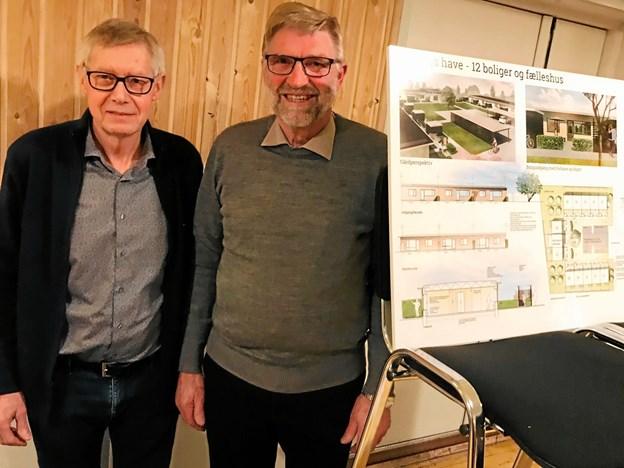 Johannes Nielsen (t.v.) og Poul Østergaard står bag byggeriet. Privatfoto
