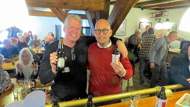 Vært i Bryggerstuen Kent Boalth præsenterede de nye øl sammen med Rasmus Prehn. Foto: Kirsten Olsen