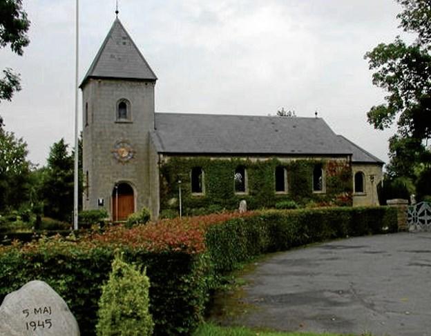 Koncerten foregår i Langeslund Kirke. Arkivfoto