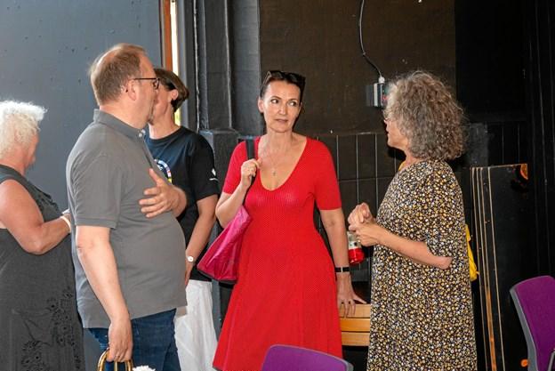 Gæster fra nær og fjern deltog i receptionen. Foto: Aage Møller-Pedersen