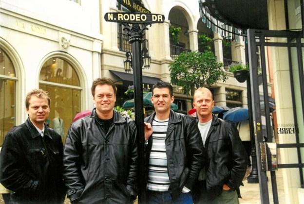 Det er ikke kun danskerne, som har haft fornøjelsen af Kandis. I 2001 var gruppen såmænd i Hollywood.Privatfoto