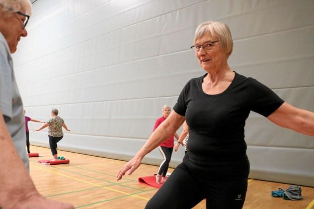 Gymnastikinstruktør Sigrid Sinkbæk Jacobsen kan i år fejre 10 års jubilæum med samme seniorhold. Foto: Tommy Thomsen
