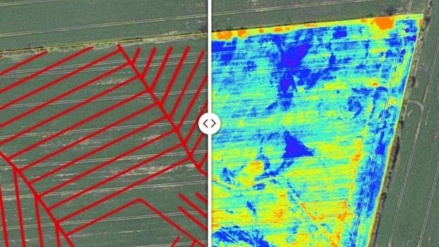 Multispektrale kameraer kan nu afsløre, hvor under markens overflade drænrørene ligger begravet.