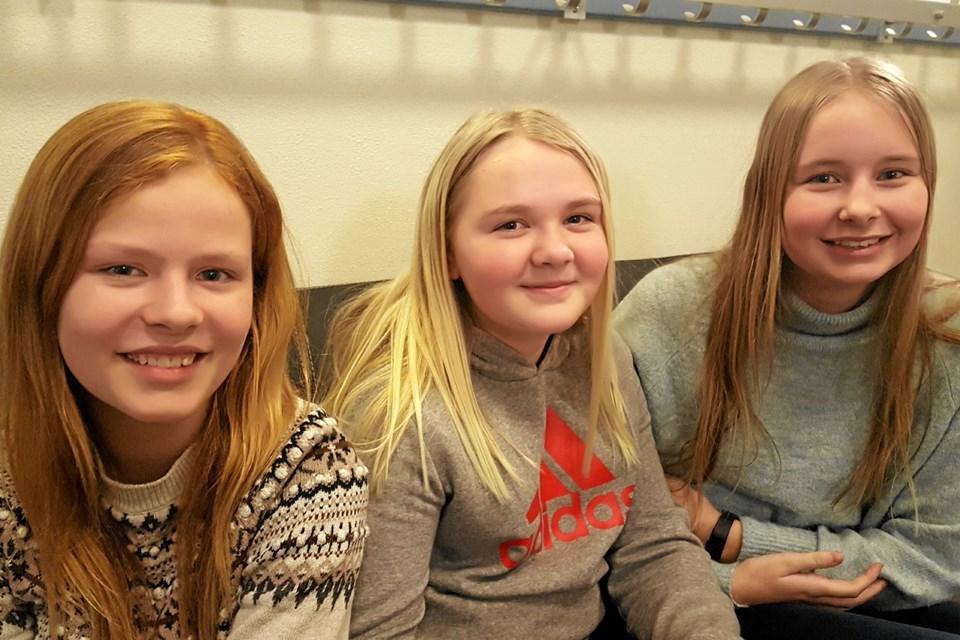 Sofie Brander (tv), Astrid Nielsen og Freja Tidemann (th) var alle en smule nervøse, da de gik til optagelsesprøve. Men det var der faktisk ingen grund til, siger de. PRIVATFOTO