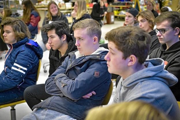 Spørgsmålet om lektie-fri skole var det punkt der interesserede eleverne mest. Det var der delte meninger om. Foto: Ole Iversen Ole Iversen
