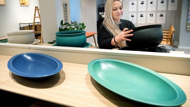 Butikschef Camilla G. Hansen er flyttet lidt længere hen ad gaden i sit nye job - hun har de seneste fire år været ansat i Imerco i Friis. Foto: Lars Pauli