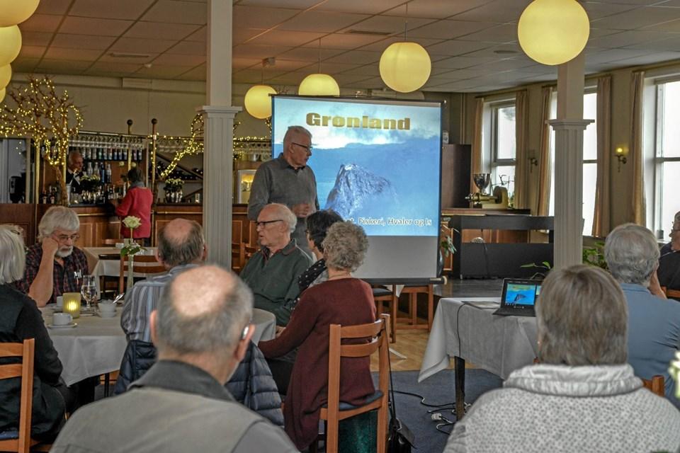 Formand for Lokalhistorisk Forening for Løgstør og Omegn, Knud Henriksen bød velkommen til foredraget. Foto: Mogens Lynge Mogens Lynge